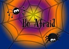 Να είστε φοβισμένες δύο αράχνες στον Ιστό τους στοκ φωτογραφία με δικαίωμα ελεύθερης χρήσης