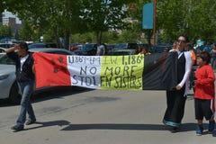Να λείψει και δολοφονημένα γηγενή γυναίκες και κορίτσια στοκ φωτογραφία με δικαίωμα ελεύθερης χρήσης
