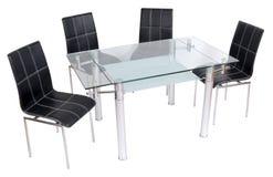 Να δειπνήσει γυαλιού πίνακας και καρέκλες Στοκ φωτογραφία με δικαίωμα ελεύθερης χρήσης