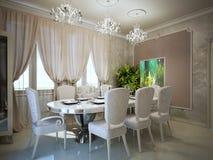 Να δειπνήσει στην τάση deco τέχνης Στοκ Εικόνες