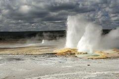 να εκραγεί geyser εθνικό yellowstone πάρκ Στοκ εικόνες με δικαίωμα ελεύθερης χρήσης