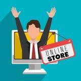 Να εμπορευτεί on-line και πωλήσεις ηλεκτρονικού εμπορίου Στοκ φωτογραφία με δικαίωμα ελεύθερης χρήσης