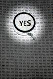 Να ενισχύσει ή να εστιάσει ναι στον τρύγο έννοιας   Στοκ εικόνα με δικαίωμα ελεύθερης χρήσης