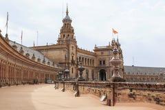 Να ενσωματώσει το Plaza της Ισπανίας στη Σεβίλη Στοκ Εικόνες