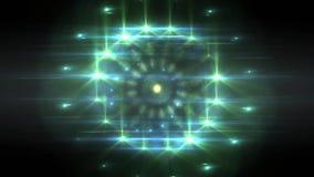 Να εξετάσει επάνω ένα αλλοδαπό διαστημόπλοιο UFO επάνω στον ουρανό διανυσματική απεικόνιση