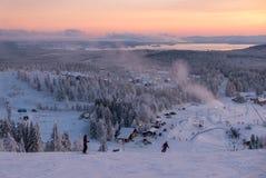 Να εξισώσει προς τα κάτω να κάνει σκι στο Βορρά Στοκ εικόνες με δικαίωμα ελεύθερης χρήσης