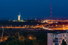Να εξισώσει στην πόλη του Βόλγκογκραντ Η πόλη ηρώων Στοκ εικόνες με δικαίωμα ελεύθερης χρήσης