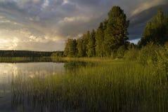 Να εξισώσει στη λίμνη Delsbo Στοκ φωτογραφία με δικαίωμα ελεύθερης χρήσης