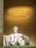 Να εξισώσει στο μνημείο του Λίνκολν Στοκ Φωτογραφία