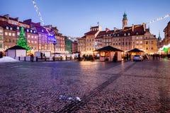 Να εξισώσει στο παλαιό τετράγωνο πόλης αγοράς στη Βαρσοβία Στοκ Φωτογραφία