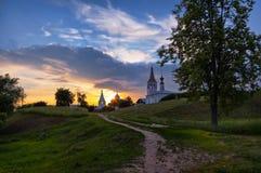 Να εξισώσει στο Σούζνταλ Ρωσικό πεδίο Στοκ Εικόνες