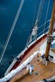 Να εξοπλίσει άνωθεν σε ένα schooner Στοκ Εικόνες