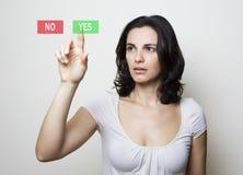 να επιλέξει ναι Στοκ φωτογραφία με δικαίωμα ελεύθερης χρήσης