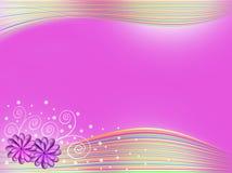 να επιμεληθεί ανασκόπησης εύκολα ομαδοποιημένα γραφική παράσταση στρώματα λουλουδιών πορφυρά αρκετά Στοκ φωτογραφία με δικαίωμα ελεύθερης χρήσης