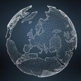Να επιπλεύσει άσπρη και μπλε τρισδιάστατη απόδοση δικτύων πλανήτη Γη Στοκ εικόνα με δικαίωμα ελεύθερης χρήσης