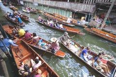Να επιπλεύσει αγορά Damnoensaduak, Ratchaburi, Ταϊλάνδη Στοκ Εικόνες