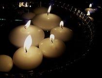 να επιπλεύσει κεριών Στοκ φωτογραφίες με δικαίωμα ελεύθερης χρήσης