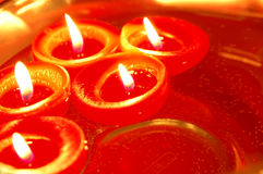 να επιπλεύσει κεριών Στοκ Εικόνες