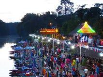 Να επιπλεύσει Klonghae αγορά σε Songkhla, Ταϊλάνδη Στοκ Εικόνες