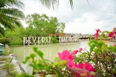 Να επιπλεύσει Pattaya η αγορά είναι δημοφιλής προορισμός ταξιδιού σε Pattaya Στοκ Εικόνες