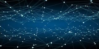 Να επιπλεύσει άσπρη και μπλε τρισδιάστατη απόδοση δικτύων σημείων Στοκ φωτογραφία με δικαίωμα ελεύθερης χρήσης