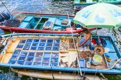 Να επιπλεύσει αγορά θαλασσινών σε Sai Kung, Χονγκ Κονγκ Στοκ Φωτογραφία