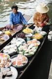 Να επιπλεύσει αγορά, Damnoen Saduak, Ταϊλάνδη Στοκ Εικόνα