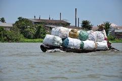Να επιπλεύσει αγορά Mekong στο δέλτα, Βιετνάμ Στοκ Εικόνες