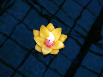 Να επιπλεύσει κεριών λουλουδιών Στοκ εικόνες με δικαίωμα ελεύθερης χρήσης
