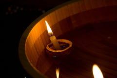 να επιπλεύσει κεριών Στοκ Φωτογραφία