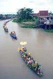 Να επιπλεύσει κεριών Chado παλληκαριών φεστιβάλ, Ταϊλάνδη Στοκ Εικόνα