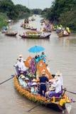 Να επιπλεύσει κεριών Chado παλληκαριών φεστιβάλ, Ταϊλάνδη Στοκ φωτογραφίες με δικαίωμα ελεύθερης χρήσης