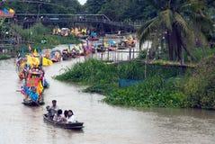 Να επιπλεύσει κεριών Chado παλληκαριών φεστιβάλ, Ταϊλάνδη Στοκ φωτογραφία με δικαίωμα ελεύθερης χρήσης