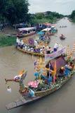 Να επιπλεύσει κεριών Chado παλληκαριών φεστιβάλ, Ταϊλάνδη Στοκ Φωτογραφία