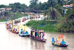 Να επιπλεύσει κεριών Chado παλληκαριών φεστιβάλ, Ταϊλάνδη Στοκ Εικόνες