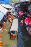 Να επιπλεύσει Saduak Damnoen αγορά. Στοκ Εικόνα