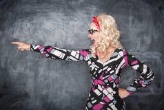 Να επισημάνει δασκάλων κραυγής αναδρομικό Στοκ Φωτογραφίες
