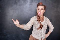 Να επισημάνει δασκάλων κραυγής Στοκ Εικόνες