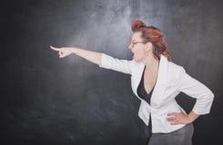 Να επισημάνει δασκάλων κραυγής Στοκ Φωτογραφία