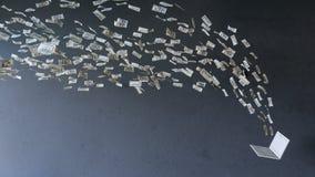 Να εργαστεί on-line στο lap-top που κάνει τα χρήματα απόκτησης Στοκ φωτογραφία με δικαίωμα ελεύθερης χρήσης
