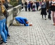 Να ικετεύσει επαιτών Στοκ Φωτογραφία