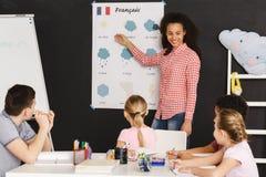 Να διδάξει τις γαλλικές λέξεις Στοκ Εικόνα