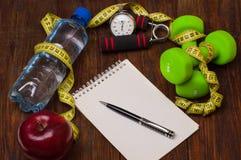 Να κάνει δίαιτα Workout και ικανότητας διαστημικό ημερολόγιο αντιγράφων υγιής τρόπος ζωής έννοιας Στοκ Φωτογραφία