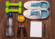 Να κάνει δίαιτα Workout και ικανότητας διαστημικό ημερολόγιο αντιγράφων υγιής τρόπος ζωής έννοιας Στοκ φωτογραφίες με δικαίωμα ελεύθερης χρήσης