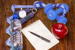 Να κάνει δίαιτα Workout και ικανότητας διαστημικό ημερολόγιο αντιγράφων Υγιής τρόπος ζωής Στοκ Φωτογραφίες