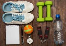 Να κάνει δίαιτα Workout και ικανότητας διαστημικό ημερολόγιο αντιγράφων υγιής τρόπος ζωής έννοιας Στοκ Φωτογραφίες