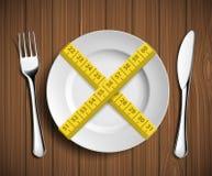 Να κάνει δίαιτα και βάρους απώλεια Στοκ Εικόνες