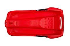 να κάνει σκι ανασκόπησης πλαστικό κόκκινο λευκό ελκήθρων Στοκ φωτογραφία με δικαίωμα ελεύθερης χρήσης