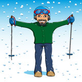 Να κάνει σκι ατόμων Στοκ Εικόνα