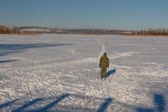 Να κάνει σκι ατόμων Στοκ Εικόνες